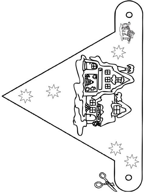 Kleurplaat Sinterklaas Peuters Vlaggetjes by Vlaggetjes Huisjes Knutselen Bouwplaten