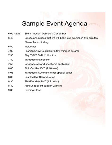 sample event agenda