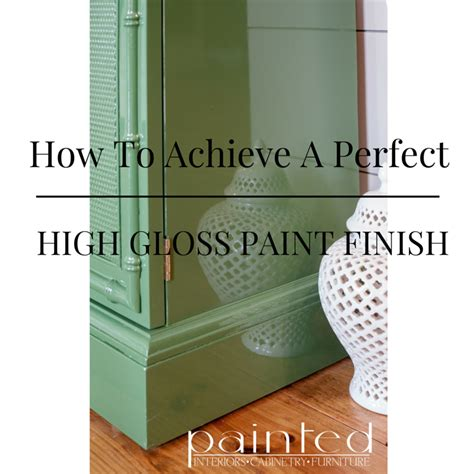 perfect glossy paint finish painted