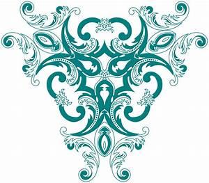 OnlineLabels Clip Art - Vintage Floral Style Design 2