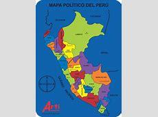 Mapa Político del Perú – Arti Creativo