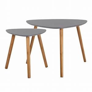 Table Basses Gigogne : tables basses gigognes en bois grise koya design ~ Zukunftsfamilie.com Idées de Décoration