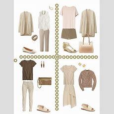 A Summer Common Capsule Wardrobe, In Warm Tones  The