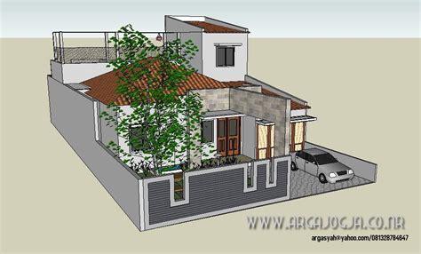 konsep desain fasad rumah minimalist  lebar