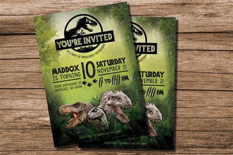 28 Images Of Jurassic World Birthday Invitations Template