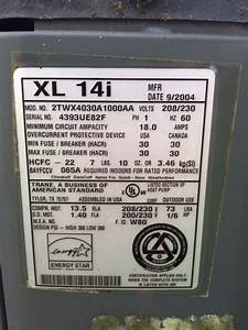 I Have A Trane Xl14i Ac It Is Not Coming On Outside  I Do
