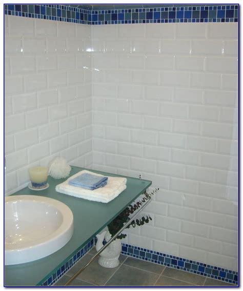 4x8 White Beveled Subway Tile by White Beveled Subway Tile 4 215 8 Tiles Home Design Ideas