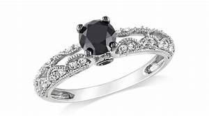 vintage black diamond engagement rings ipunya With black and diamond wedding rings