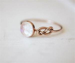 moonstone ring infinity knot ring engagement ring blue by With infinity wedding rings