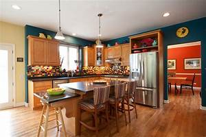 inspired fiestaware in kitchen traditional with above With kitchen cabinets lowes with teal and orange wall art