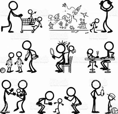 Stick Figure Figures Vector Illustration Drawing Drawings