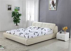 aliexpresscom buy high back cream top grain leather With design of furniture of bed