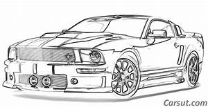 3 Mustang Drawing Muscle Car For Free Download On Ayoqq