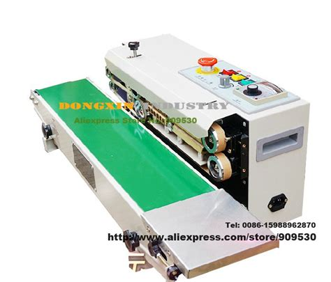 automatic horizontal continuous plastic bag band sealing sealer machine fr vvmachine