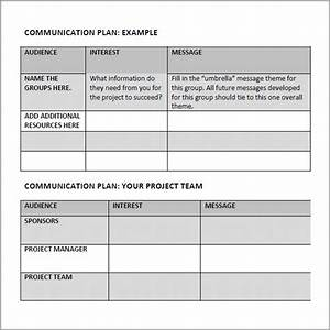 10 communication plan template With marketing communications plan template pdf
