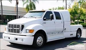 2001 Ford F650 Super Crewzer 300hp Diesel Truck    Trailer