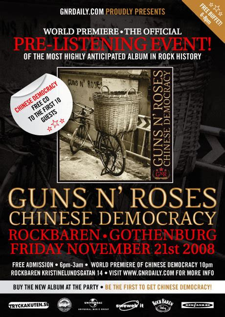 Hear Chinese Democracy In Full Before Release Chinese