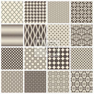 Fliesen Mit Muster by Gro 223 E Sammlung Nahtlose Fliesen Muster Fototapete