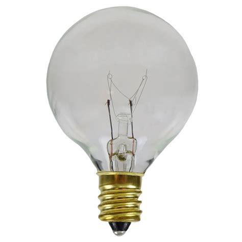 7w clear c7 g50 globe light bulbs candelabra base 25 pack