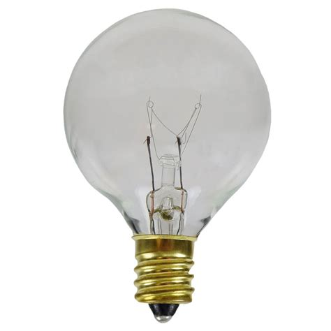 clear   globe light bulbs candelabra base  pack