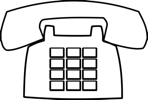 telephone clipart black and white clipart telephone