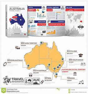 Commonwealth Of Australia Travel Guide Book Business Infographic Stock Vector