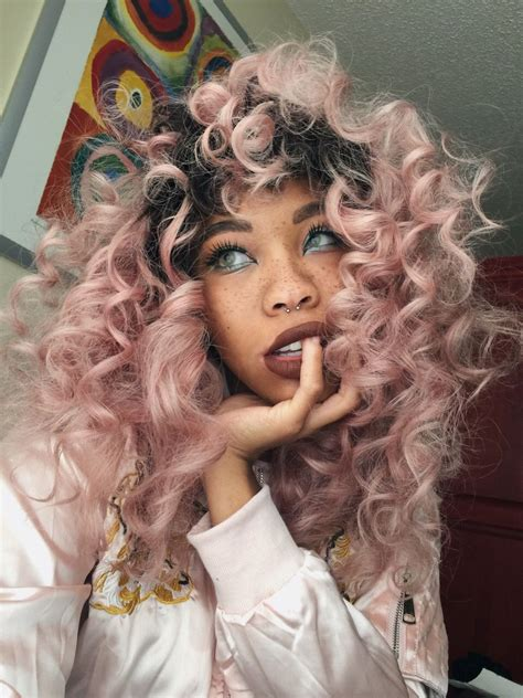 colored weave hair peachiebabe pastel hair hair curly hair styles