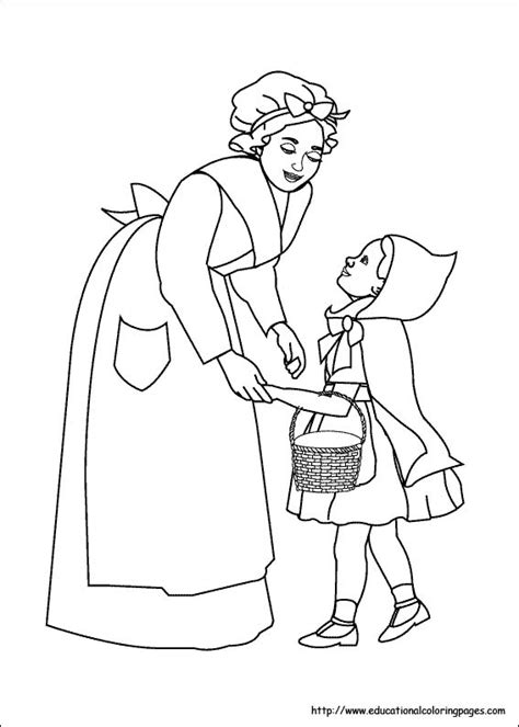 red riding hood coloring pages   kids