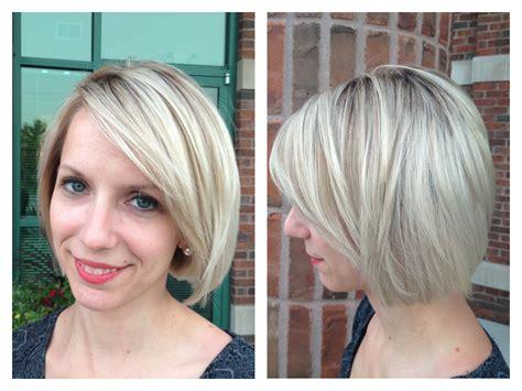 Blonde Highlights Lowlights And Layered Bob Haircut