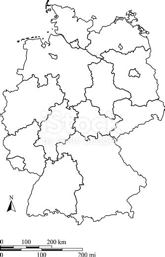 germany map outline vector  scales   blank design