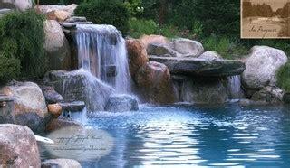 nj swimming pool waterfall dive rock traditional