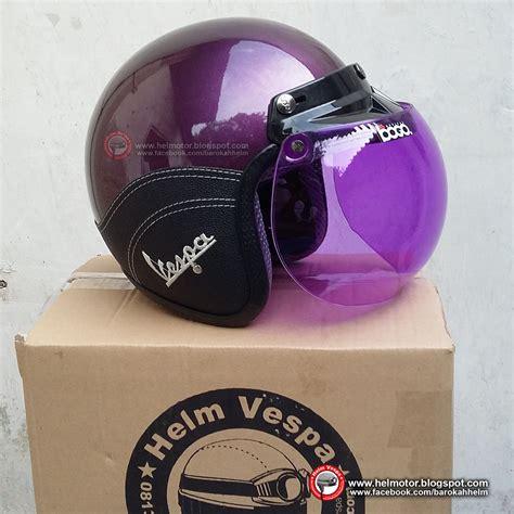 helm bogo vespa ungu shinny helm vespa