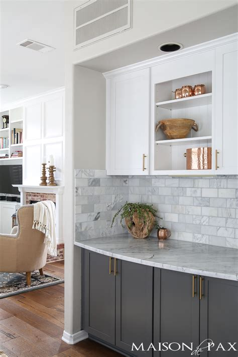 gray  white  marble kitchen reveal maison de pax