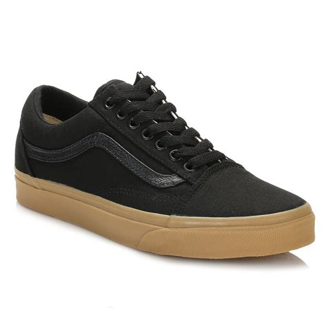 vans light up shoes vans mens trainers black light gum old skool lace up sport