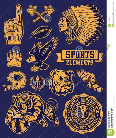 sports mascots  logo vector set stock images image