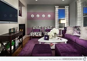 15 catchy living room designs with purple accent living With decor for living room ideas 2