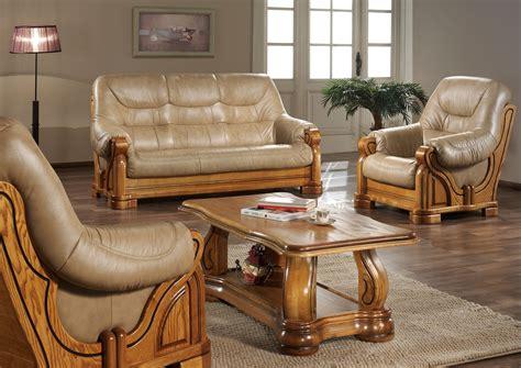 salon canapé marron canape cuir rustique maison design wiblia com