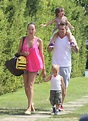 Singer Mark McGrath walked back to the car with his wife ...