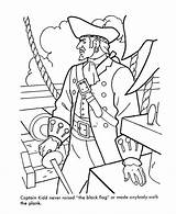 Coloring Pirates Pirate Pages Printable Caribbean Sea Ship Captain Sheets Flag Kidd Chowder Sunken Treasure Famous Activity Ships Printables Cartoon sketch template