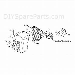 Stihl Ms 250 Chainsaw  Ms250 Cbe  Parts Diagram  Air Filter