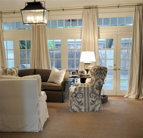 livingroom windows doors and transom windows transitional living room cote de