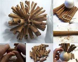 Diy christmas tree ornaments cinnamon sticks foam ball for What kind of paint to use on kitchen cabinets for how to make bottle cap wall art