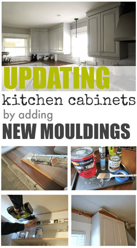 kitchen title updating our kitchen cabinets with new mouldings the creek line house