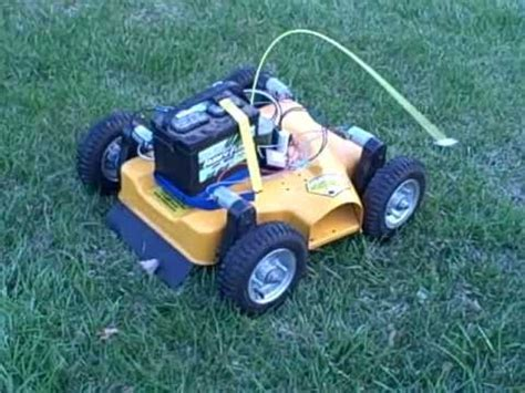 remote lawn mower prototype