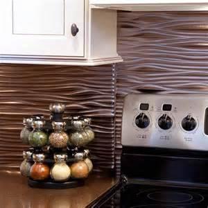 peel and stick kitchen backsplash ideas fasade backsplash waves in brushed nickel