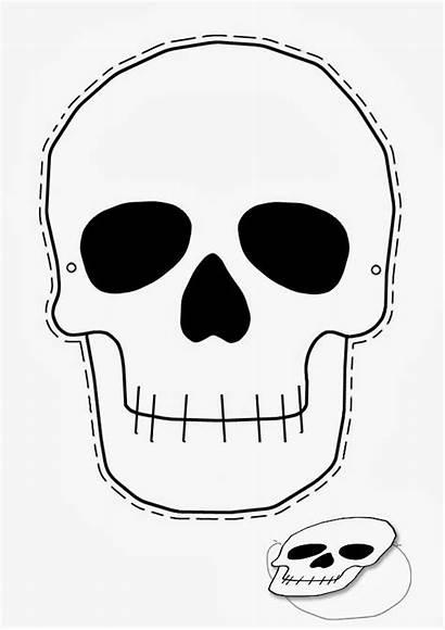 Skull Printable Mask Halloween Template Stencils Sugar