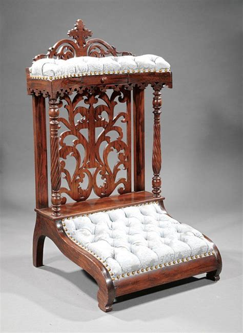 chaise prie dieu carved rosewood prie dieu lot 170 chairs