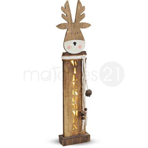 Holz Deko Draußen by Elch Weihnachtsdeko Holz Deko Willkommen Led Beleuchtung
