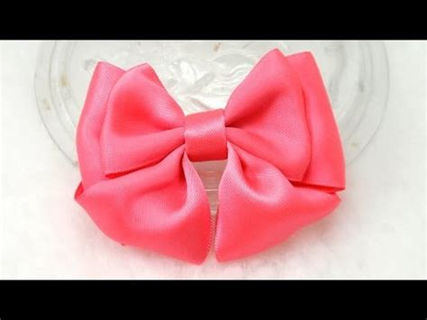 diy    bow diy tutorial ribbon bow  youtube
