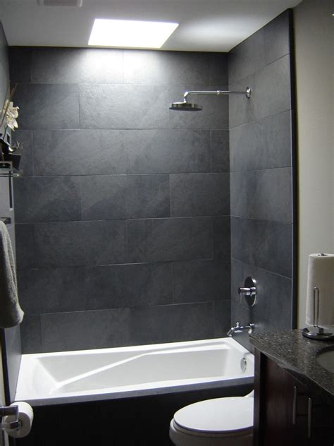 Graue Fliesen Bad by Gray Tile Bathroom Shower Grey Tile Bathroom